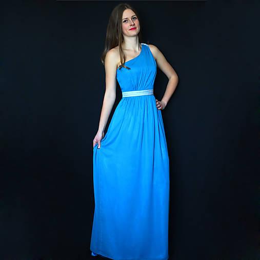 60e56be81df0 Spoločenské šaty na jedno plece v antickom štýle rôzne farby   Dyona ...