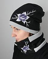 Čiapky - Čierno-šedý zimný set - 9078478_