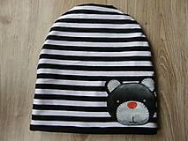 Detské čiapky - Zimná čiapka s mackom - 9078740_