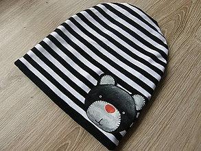 Detské čiapky - Zimná čiapka s mackom - 9078742_
