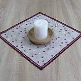 Úžitkový textil - Režné variácie ružové - obrus štvorec 42x42 - 9079547_