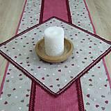 Úžitkový textil - Režné variácie ružové - obrus štvorec 42x42 - 9079548_