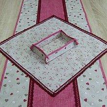 Úžitkový textil - Režné variácie ružové - obrus štvorec 41x41 - 9079202_