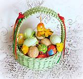 Košíky - Košík na Veľkonočné vajíčka - 9079795_
