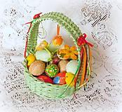 Košíky - Košík na Veľkonočné vajíčka - 9080319_