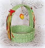 Košíky - Košík na Veľkonočné vajíčka - 9080323_