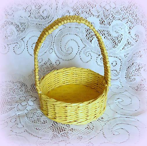 b66ff3f79 Košík na Veľkonočné vajíčka (Žltá) / BySong - SAShE.sk - Handmade Košíky