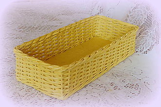 Košíky - Košíky na veľkonočné dekorácie (38 x 12  výška  8 - Žltá) - 9079705_