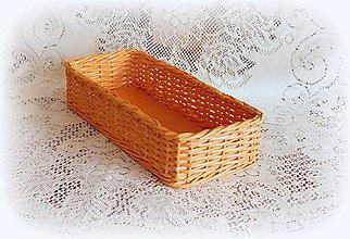 Košíky - Košíky na veľkonočné dekorácie (38x 12 výška 8  - Oranžová) - 9079713_