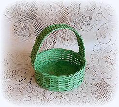 Košíky - Košík na Veľkonočné vajíčka (Zelená) - 9079755_