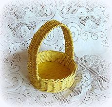 Košíky - Košík na Veľkonočné vajíčka (Žltá) - 9079772_