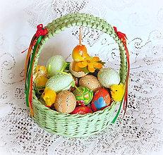 Košíky - Košík na Veľkonočné vajíčka (Zelená) - 9079795_