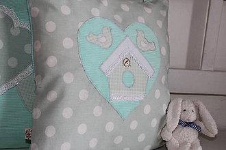 Úžitkový textil - vankúš vtáčia búdka - 9081760_