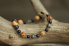 - Náramok z minerálu jaspis, lapis lazuli a labradorit - 9078350_