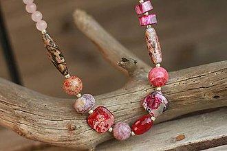 Náhrdelníky - Náhrdelník z minerálov pink - 9079104_