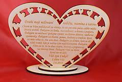 Darčeky pre svadobčanov - Poďakovanie rodičom drevené srdiečko  45 - 9081379_