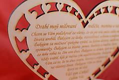 Darčeky pre svadobčanov - Poďakovanie rodičom drevené srdiečko  45 - 9081381_