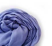 Šály - fialovo-modrý hodvábny  šál (pléd) skladom:-) - 9079140_