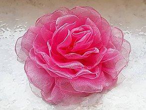 Ozdoby do vlasov - Šifónová ruža - 9080802_
