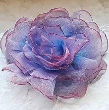 Ozdoby do vlasov - Šifónová ruža - 9080867_