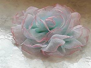 Ozdoby do vlasov - Šifónová ruža - 9080904_