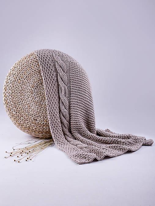 Pletená hnedá deka - detská