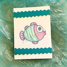 Papiernictvo - Pohľadnica rybka - 9080413_