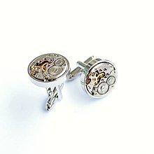 Šperky - Kulaté strojkové manžetové knoflíčky - 9083047_