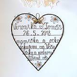 Dekorácie - poďakovanie rodičom  srdce natur 30cm - 9083323_