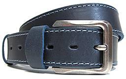 Opasky - Modrý kožený opasok - 9083469_