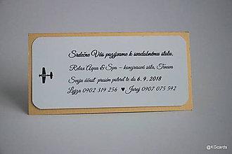 Papiernictvo - Pozvanie k stolu lietadielkové zlaté - 9085482_