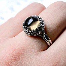 Prstene - Vintage Smoky Quartz Silver Ring Ag 925 / Strieborný prsteň so záhnedou /0394 - 9083494_