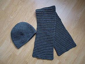 Doplnky - Pánska čiapka a šál - 9085860_