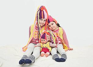 Detské súpravy - čiapka Fíha trala la - 9084438_