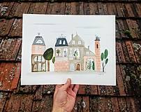 - Mesto 24 ilustrácia  / originál maľba  - 9083276_