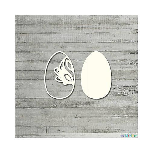 Lepenkový výrez - Veľkonočné vajíčko folkové č. 2, veľ. S