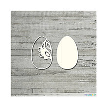 Polotovary - Lepenkový výrez - Veľkonočné vajíčko folkové č. 2, veľ. S - 9084805_
