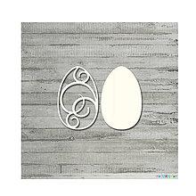 Polotovary - Lepenkový výrez - Veľkonočné vajíčko ornamentové, veľ. S - 9084839_
