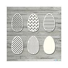 Polotovary - Lepenkový výrez - Set vajíčok veľký - 9085087_