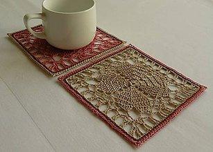 Úžitkový textil - Podšálky - zaľúbené - 9083355_