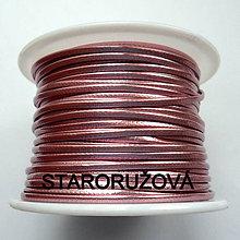 Galantéria - Šnúrka z EKO kože 1,5mm-1m (st.ružová) - 9083468_