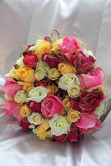 Dekorácie - Kvetinový veniec na dvere, aj na svadbu ružový MAX. - 9085557_