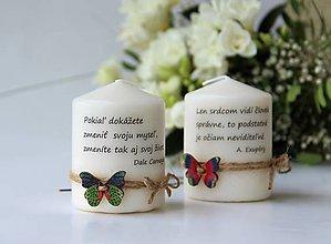 Svietidlá a sviečky - Duo sviečok s citátom - 9084809_