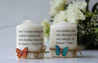 Svietidlá a sviečky - Duo sviečok narodeniny, meniny - 9084884_