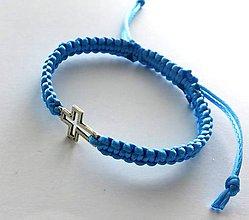 Náramky - S krížikom (modrý svetlý) - 9087201_
