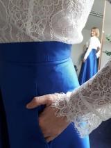 Sukne - spoločenská dlhá taftová sukňa - 9085787_