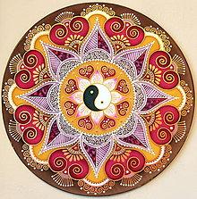 Dekorácie - Mandala...Harmonická láska - 9082908_