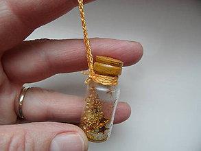 Drobnosti - fľaštičkové ozdôbky (Zlatá) - 9086005_