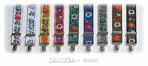 Doplnky - Folklórne traky - viac farieb - 9085927_