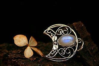 Náhrdelníky - Elfská lunica s mesačným kameňom - 9084082_